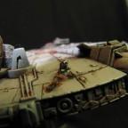 Millennium Falcon Umbau mit R2-D2 auf Außeneinsatz